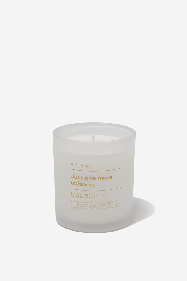 Its A Vibe Candle, WHITE ONE MORE EPISODE