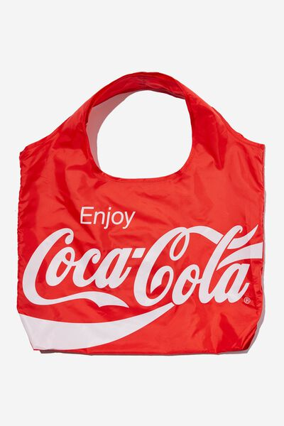 Foldable Shopper Tote Bag, LCN COK COCA COLA