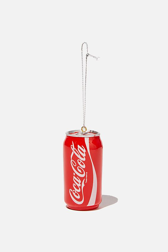 Coca Cola Resin Christmas Ornament, LCN COK COLA CAN