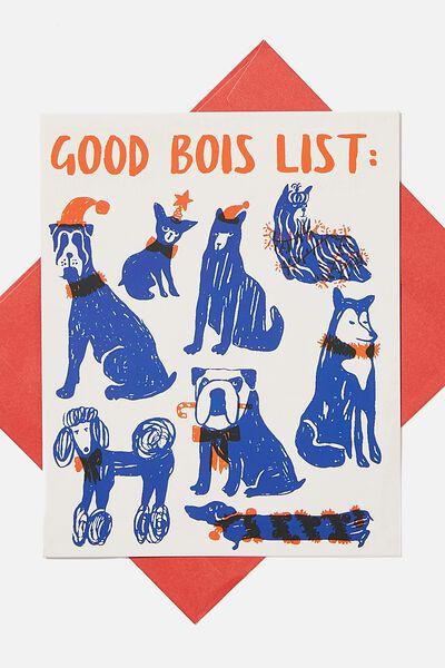 Christmas Card 2020, GOOD BOIS LIST!
