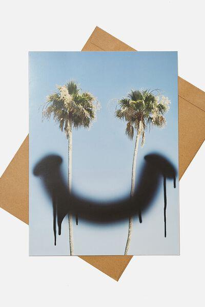 Large Fashion Card, PALMS SMILEY