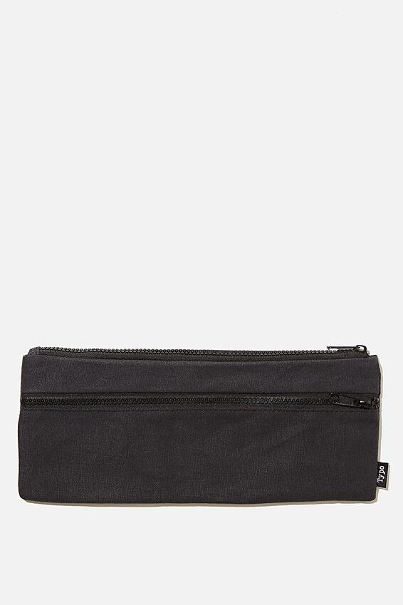Patti Pencil Case, BLACK CANVAS