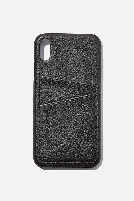 Cardholder Phone Case Iphone Xs Max, BLACK PEBBLE