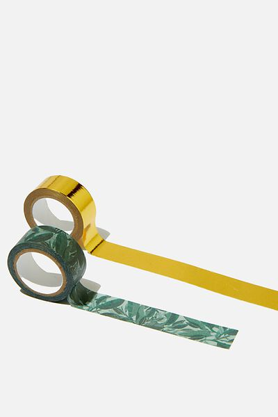 Washi Tape 2Pk, BONDI FOLIAGE