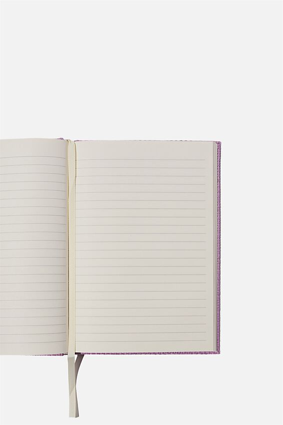 A5 Oxford Notebook, LILAC RATTAN