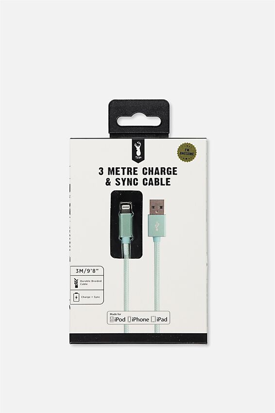 3M Charge And Sync (Mfi) Charging Cable, BLUE