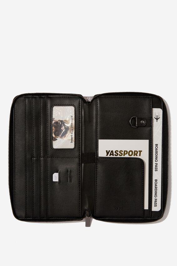 Rfid Odyssey Travel Compendium Wallet, GUNMETAL