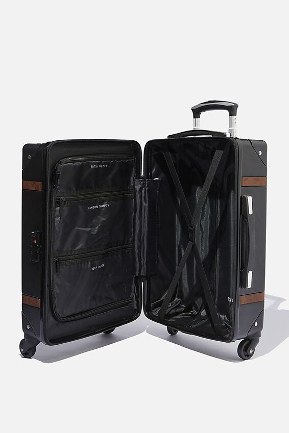 Travel Trunk Suitcase, BLACK