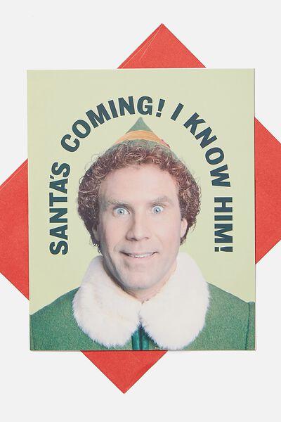 Christmas Card 2020, LCN WB ELF SANTAS COMING