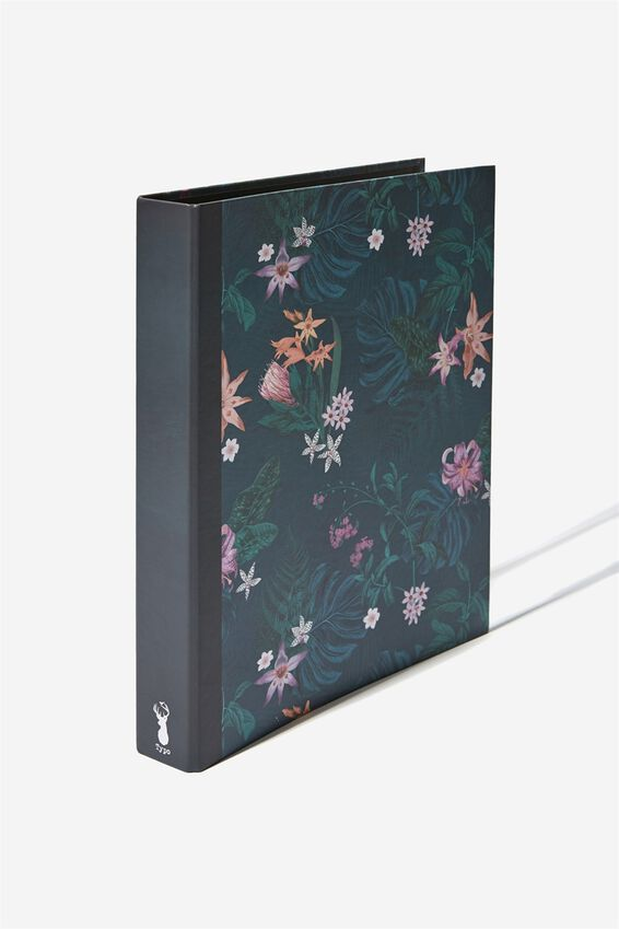 A4 Ring Binder, JUNGLE FLORAL