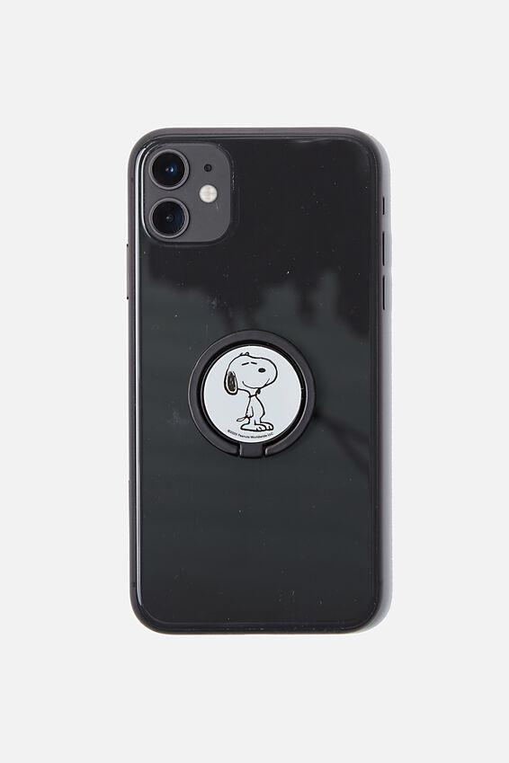 Snoopy Metal Phone Ring, LCN PEA SNOOPY FACE