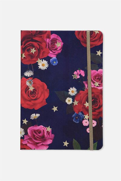 A5 Buffalo Journal, NAVY FLORAL