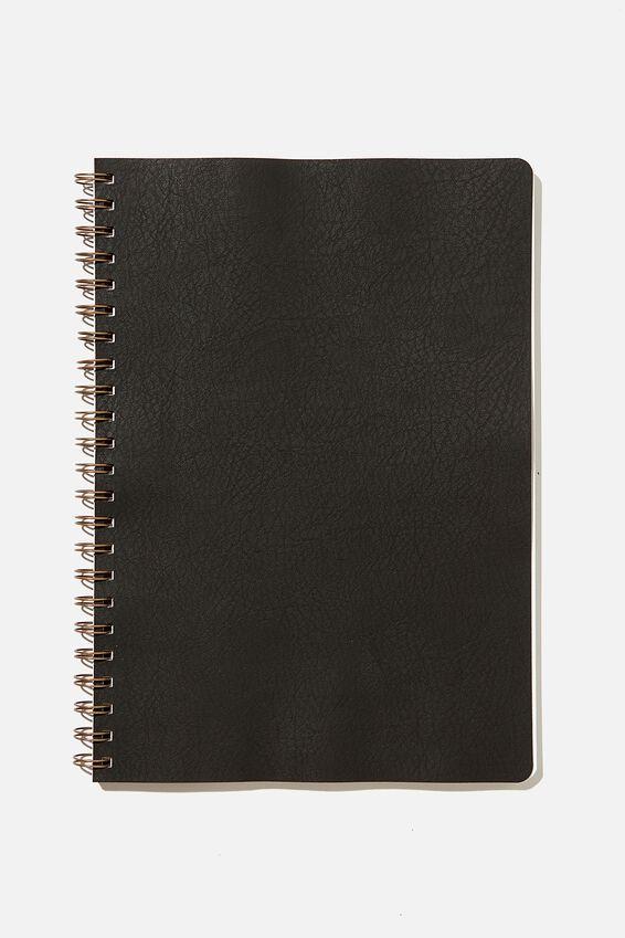 A4 Blank Daily Scribe Journal, JET BLACK