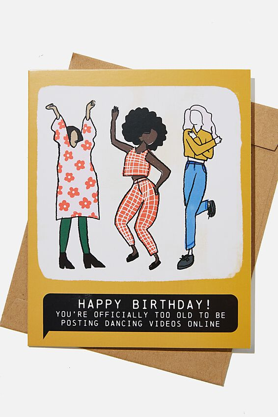 Funny Birthday Card, TOO OLD FOR DANCING VIDEOS ONLINE