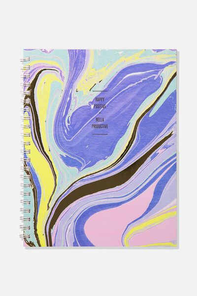 A4 Campus Notebook, MARBLE SWIRL PRODUCTIVE