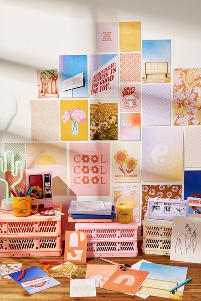 DIY Collage Art Set, COLLAGE KIT - GIRLY