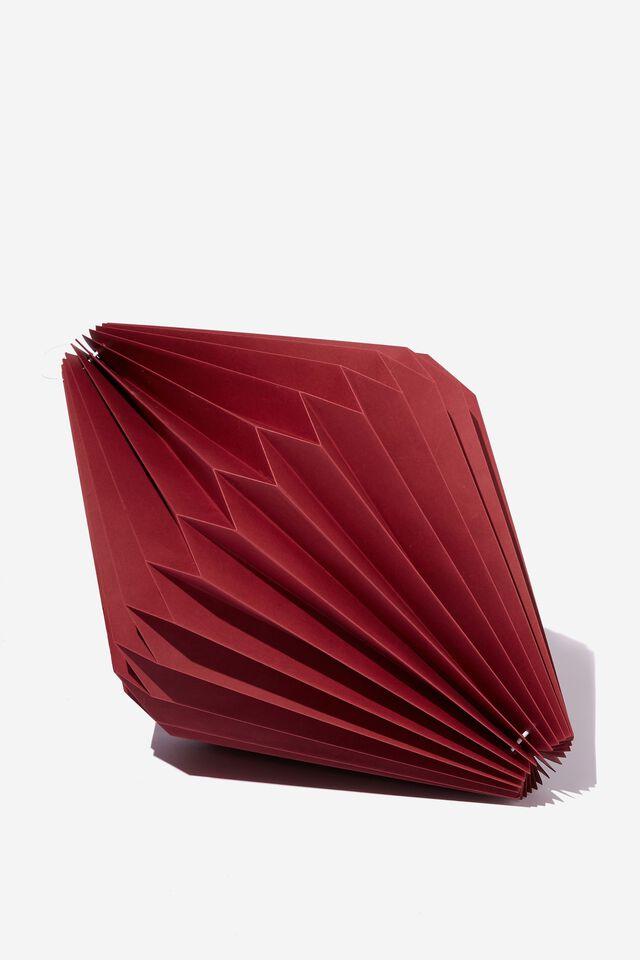 Paper Diamond Decoration, BURGUNDY RED