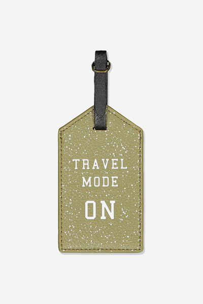 Luggage Tag, TRAVEL MODE ON