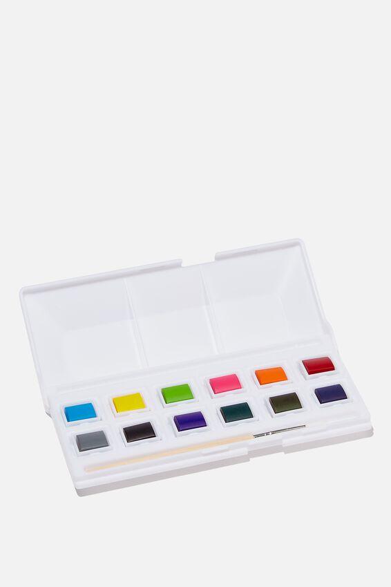 Watercolour To Go Paint Kit, 12 COLOURS
