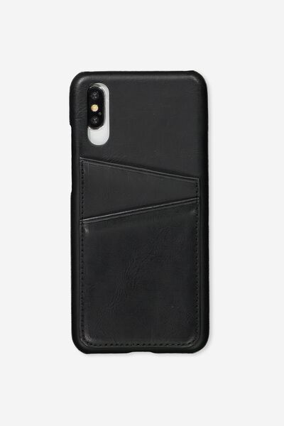 Cardholder Phone Case Huawei P20, BLACK