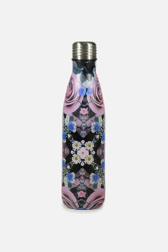 Metal Drink Bottle, REFLECTIVE FLORAL