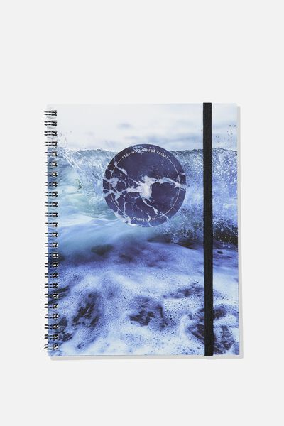 A5 Spinout Notebook - 120 Pages, CARPE DIEM OCEAN