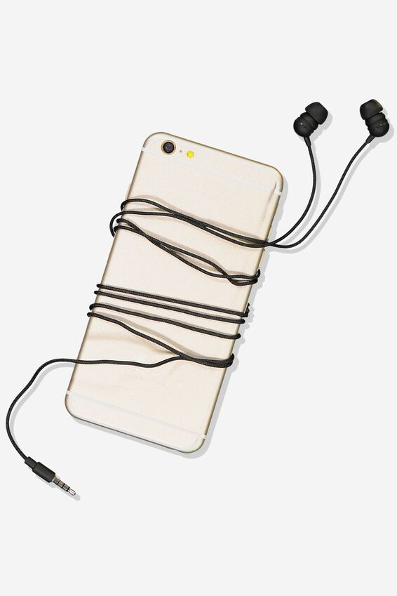 Luxe Earphones, BLACK MATTE