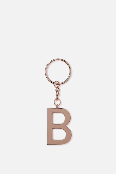 Alphabet Keyring, ROSE GOLD B