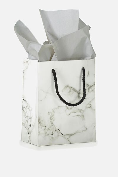Stuff It Gift Bag Small With Tissue Paper, MARBLE