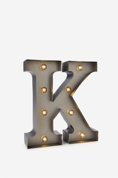 Small Letter Marquee Light, SILVER K