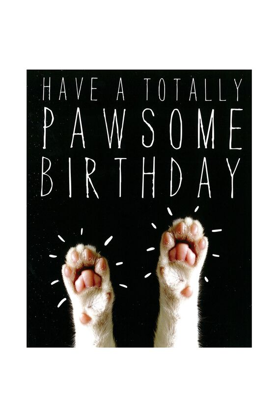 Funny Birthday Card, PAWSOME