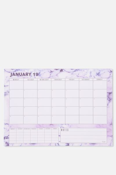 2019 A3 Plan Ahead Planner, MARBLE