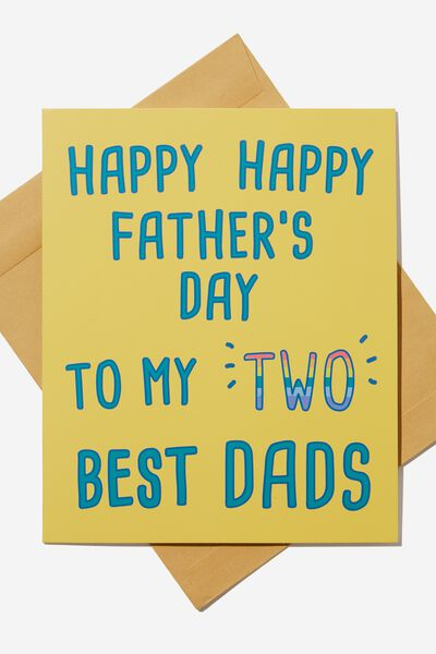 Fathers Day Card, TWO DADS