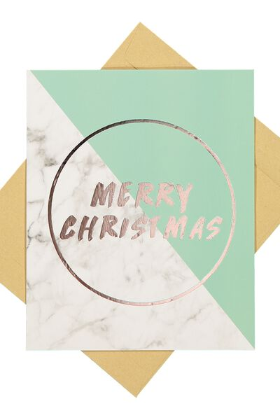 Christmas Cards 2017, GOLD FOIL MARBLE CHRISTMAS