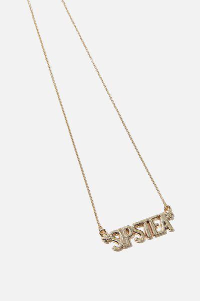 Novelty Necklace, SIPS TEA
