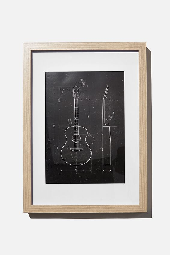 A4 Framed Print, MY GUITAR