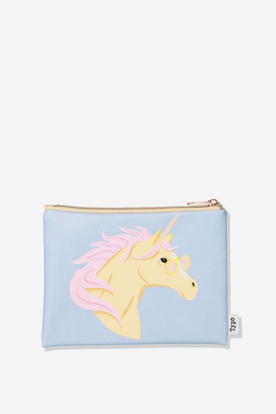 Pu Campus Pencil Case, UNICORN