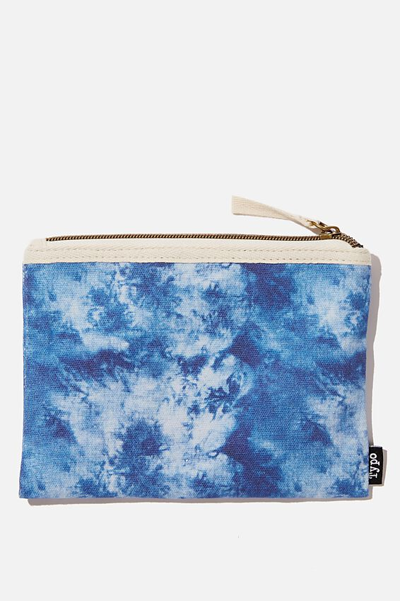 Conscious Campus Pencil Case, NAVY TIE DYE