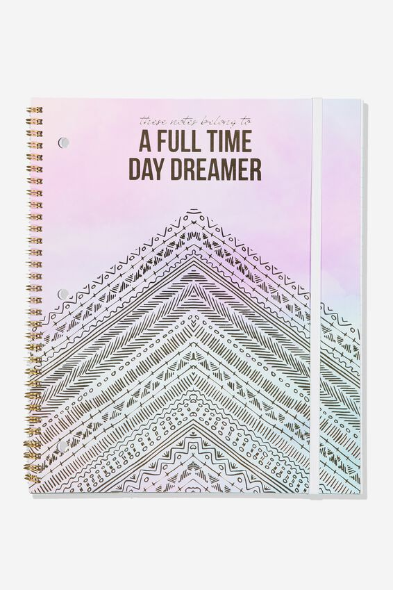 College Ruled Spinout Notebook V, FULL TIME DAYDREAMER