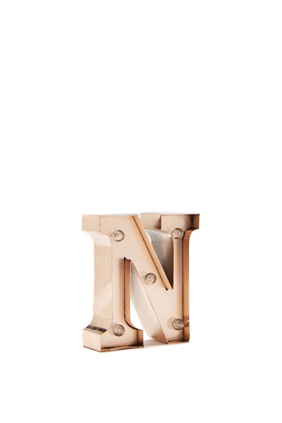Mini Marquee Letter Lights 10cm, ROSE GOLD N