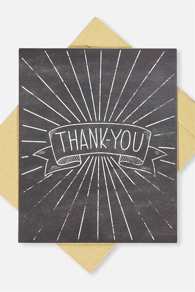 Thank You Card, THANK YOU CHALK BOARD