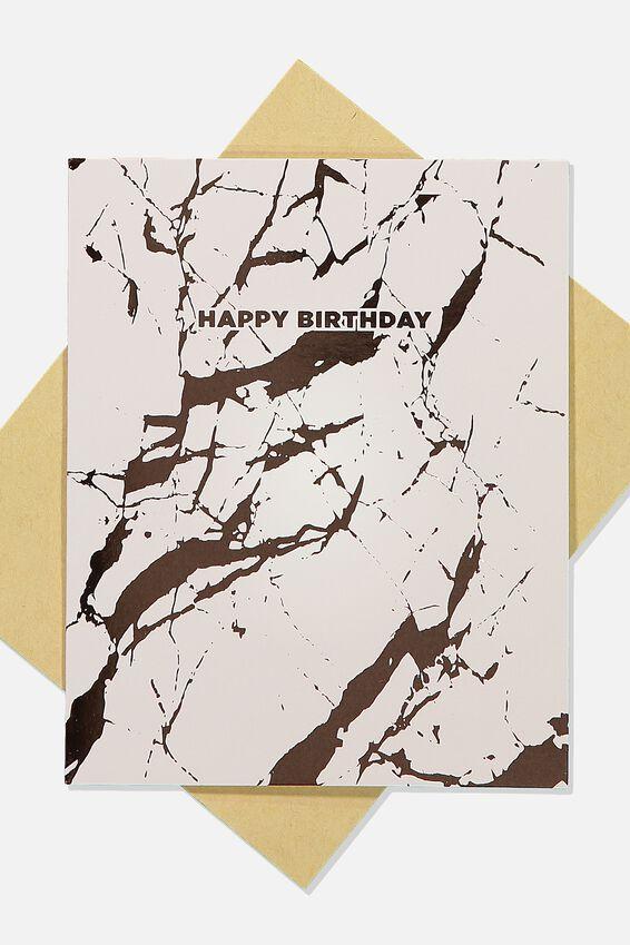 Nice Birthday Card, PINK MARBLE BIRTHDAY