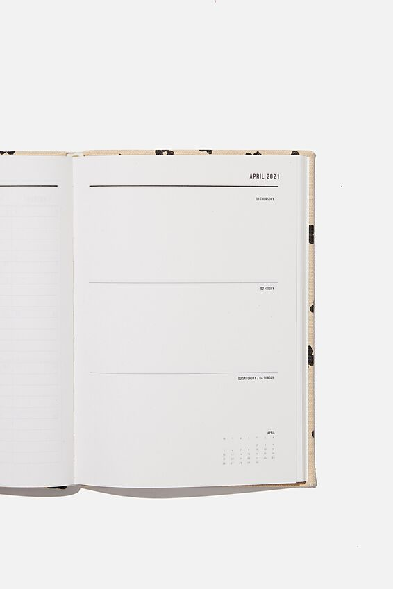 2021 A5 Oxford Weekly Diary, CHARLIE FLORAL OAT MILK