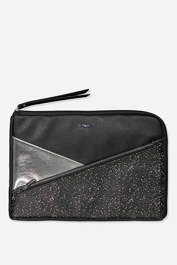 Premium Laptop Case 13 inch, BLACK SPLATTER SPLICE