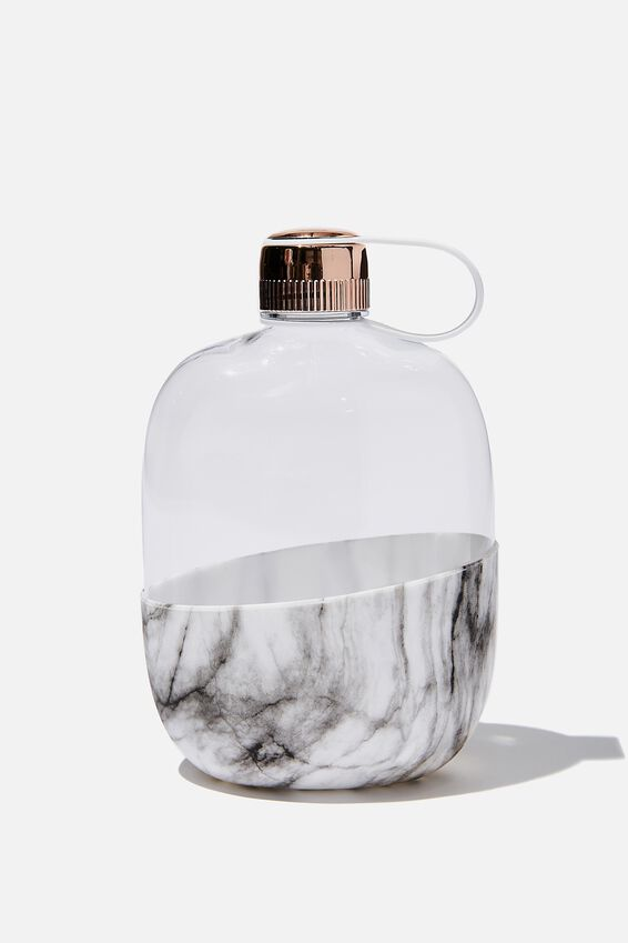 Happy Camper Drink Bottle, MARBLE