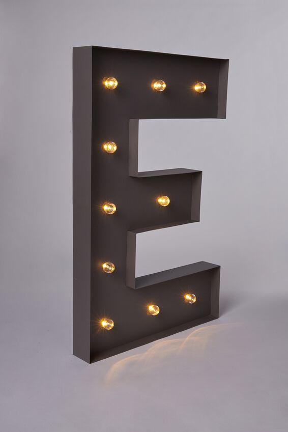 Marquee Letter Lights 70cm, SILVER E