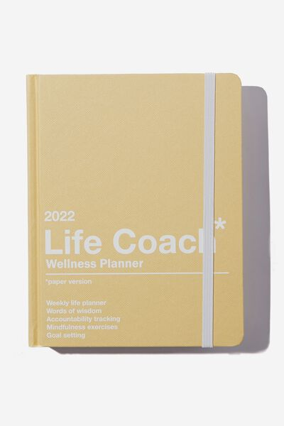 2022 Small Daily Wellness Planner, YELLOW LIFE COACH
