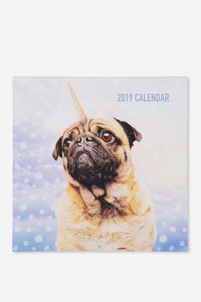 2019 Square Calendar, ANICORNS