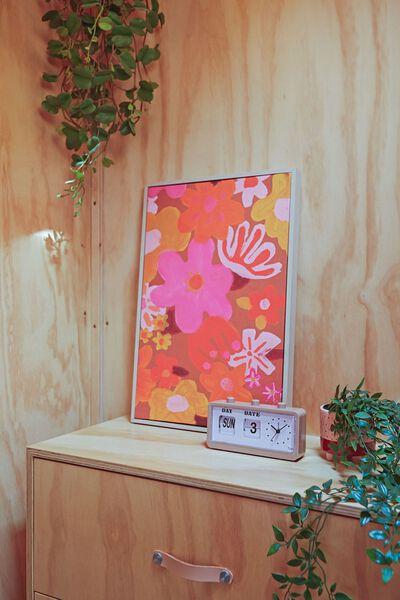 40 X 60 Canvas Art, HAPPY FLOWERS