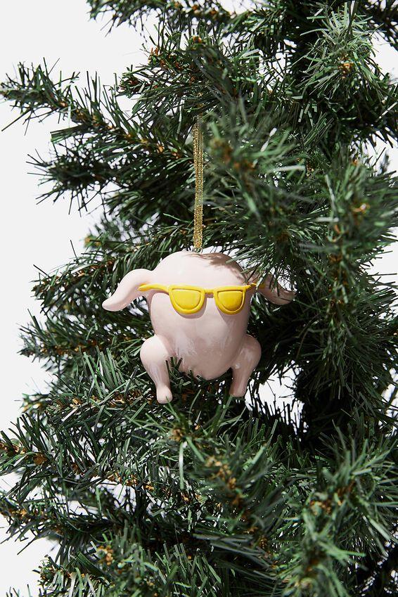 Licensed Christmas Ornament, LCN WB FRIENDS TURKEY